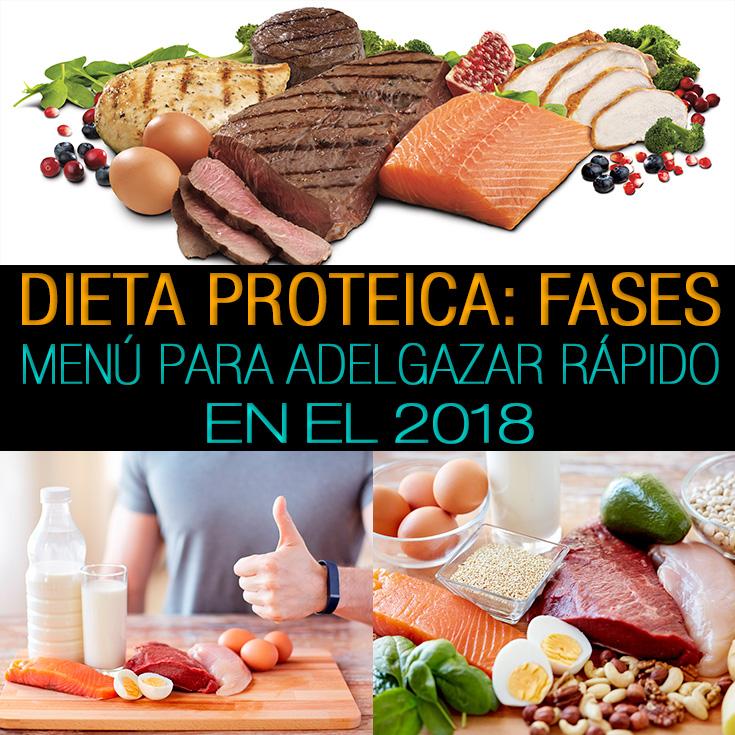 Menu de dieta proteica para bajar de peso