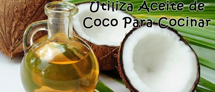 Utiliza Aceite de Coco Para Cocinar