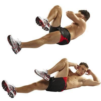 Resultado de imagen de ejercicio abdominales bicicleta