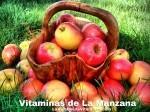 Vitaminas de las manzanas