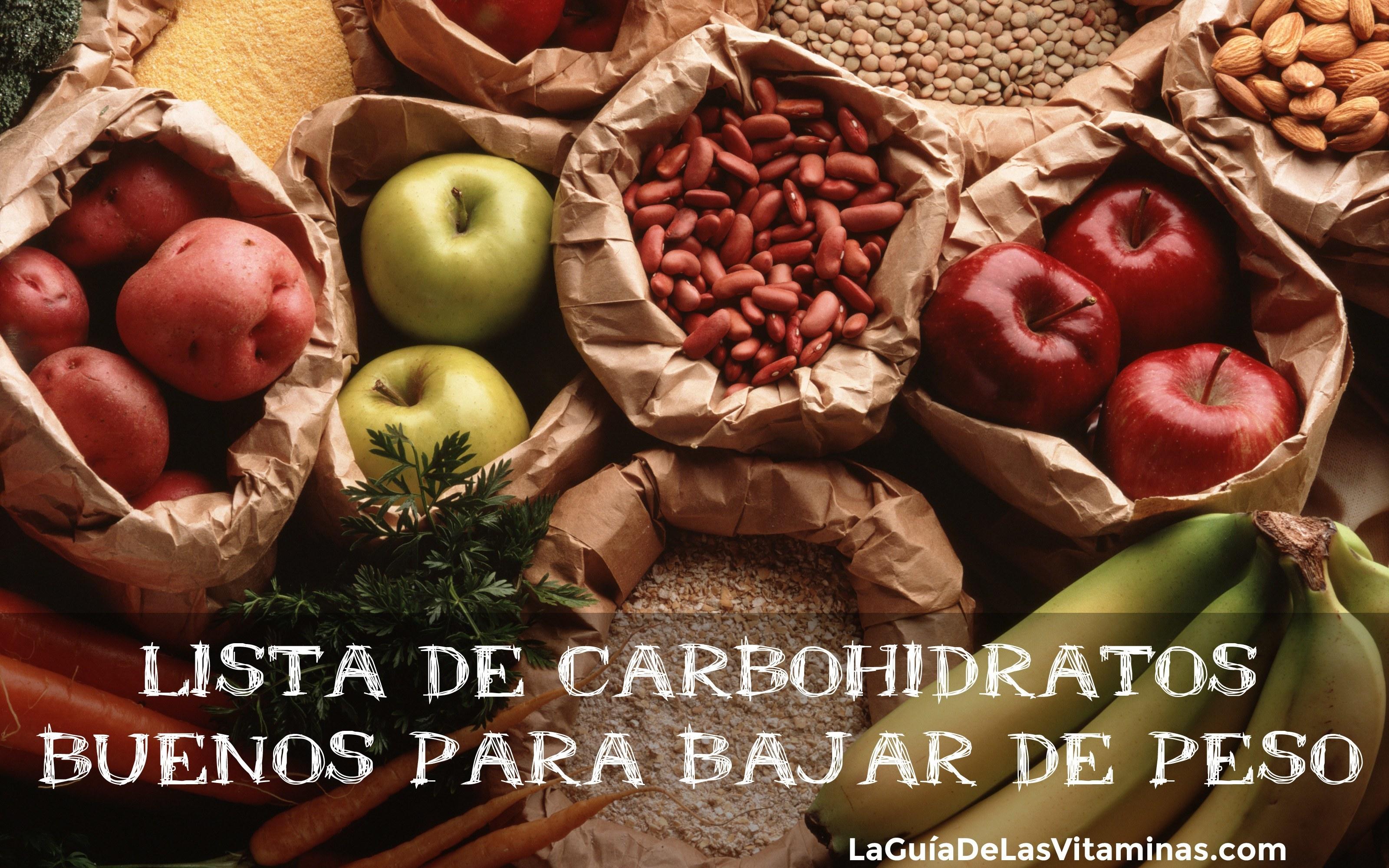 Carbohidratos buenos la guia de las vitaminas - Que alimentos contienen carbohidratos ...