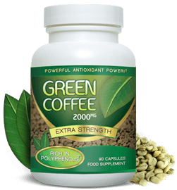 grønn kaffebønne studie Koffein i grønn kaffe