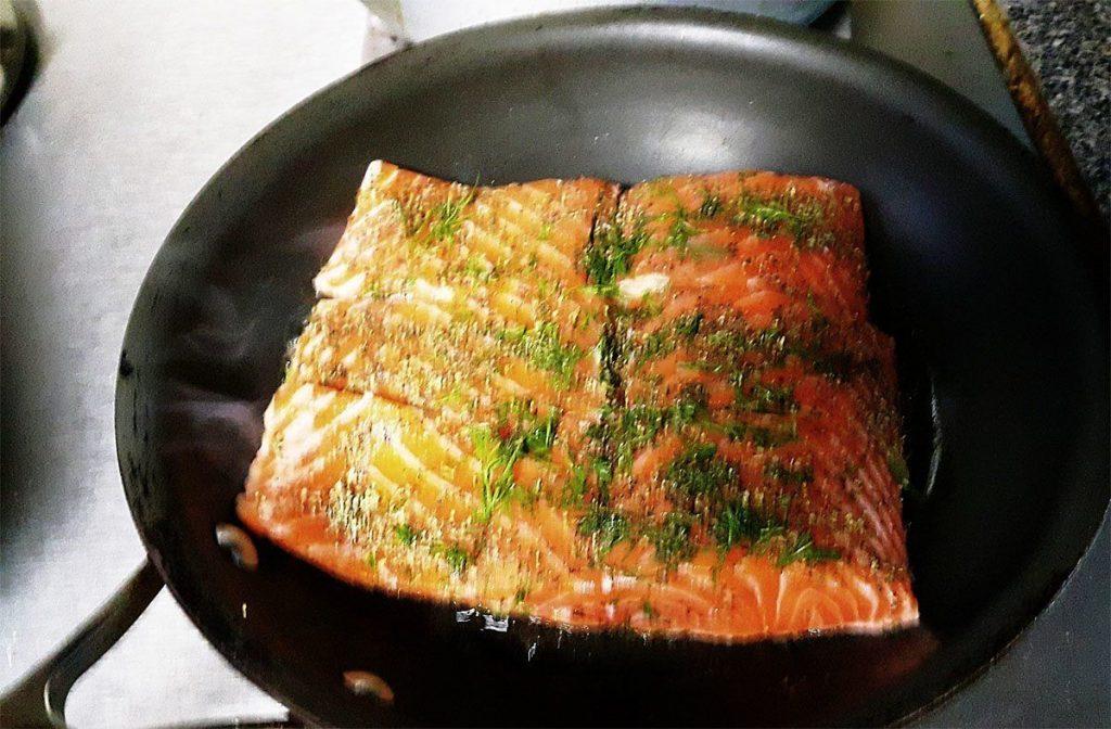 salmon en sarten