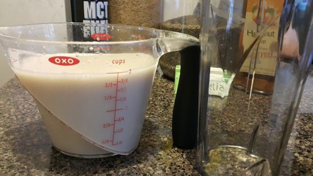 leche de almendras con coco