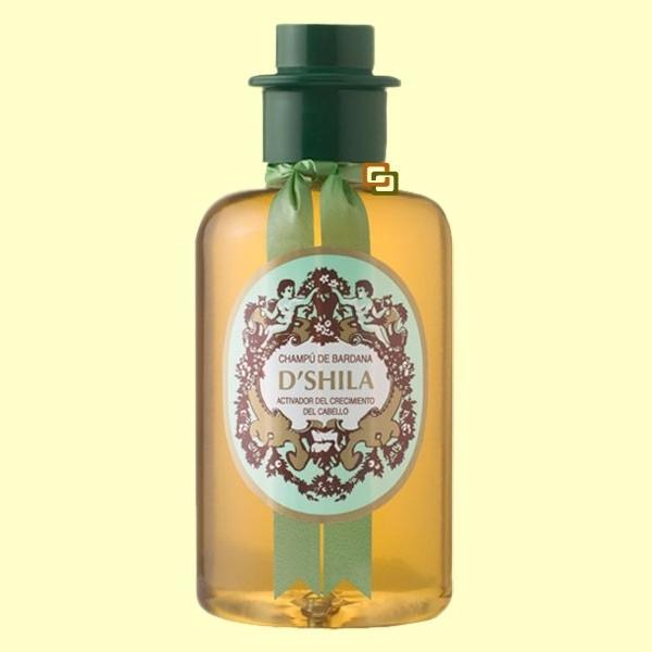 El aceite de bardana mezclado con el bálsamo para los cabellos