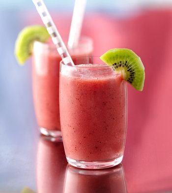 smoothies para bajar de peso- kiwi y fresa