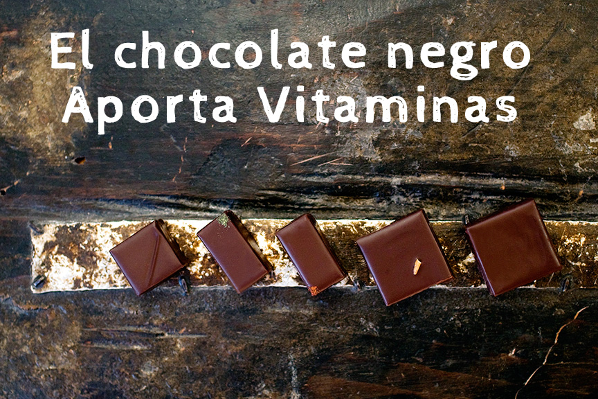 chocolate-negro-en-madera-vitaminas