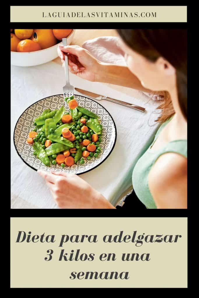 Dieta adelgazar 3 kilos
