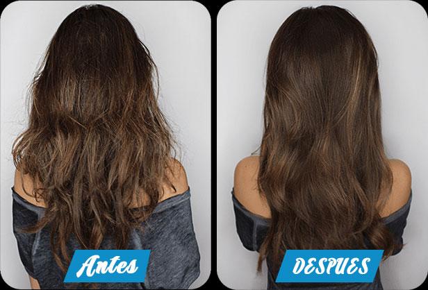 La química de los cabello del medio para la colocación de los cabello