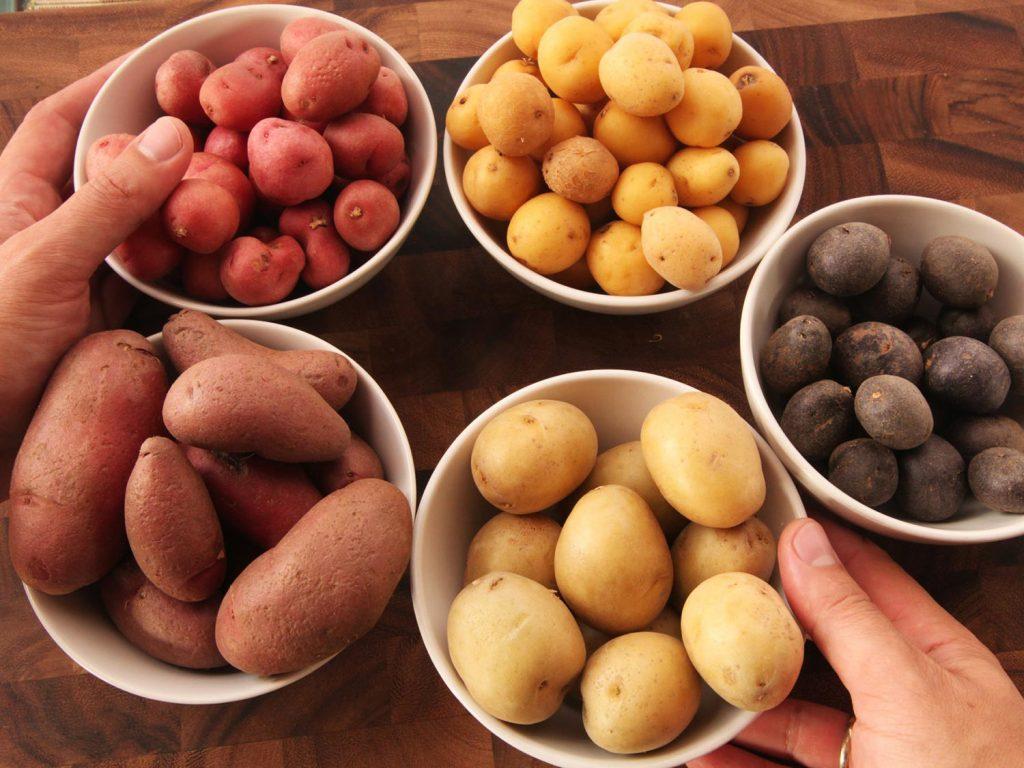 patatas de colores
