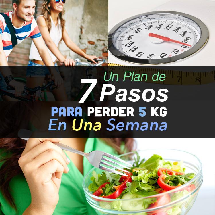 C mo bajar 5 kilos en una semana con este plan de 7 pasos - Perder 5 kilos en un mes ...