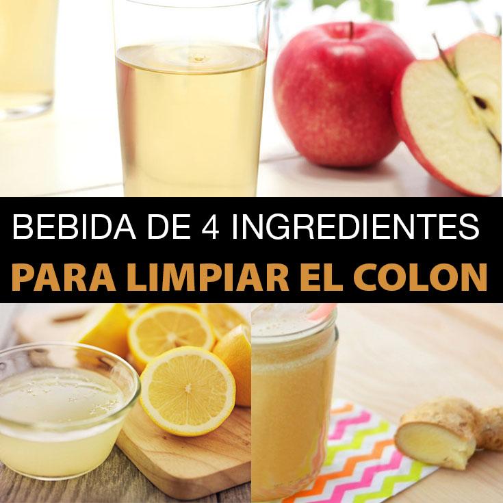 Bebida De 4 Ingredientes Para Limpiar El Colon Hecha En