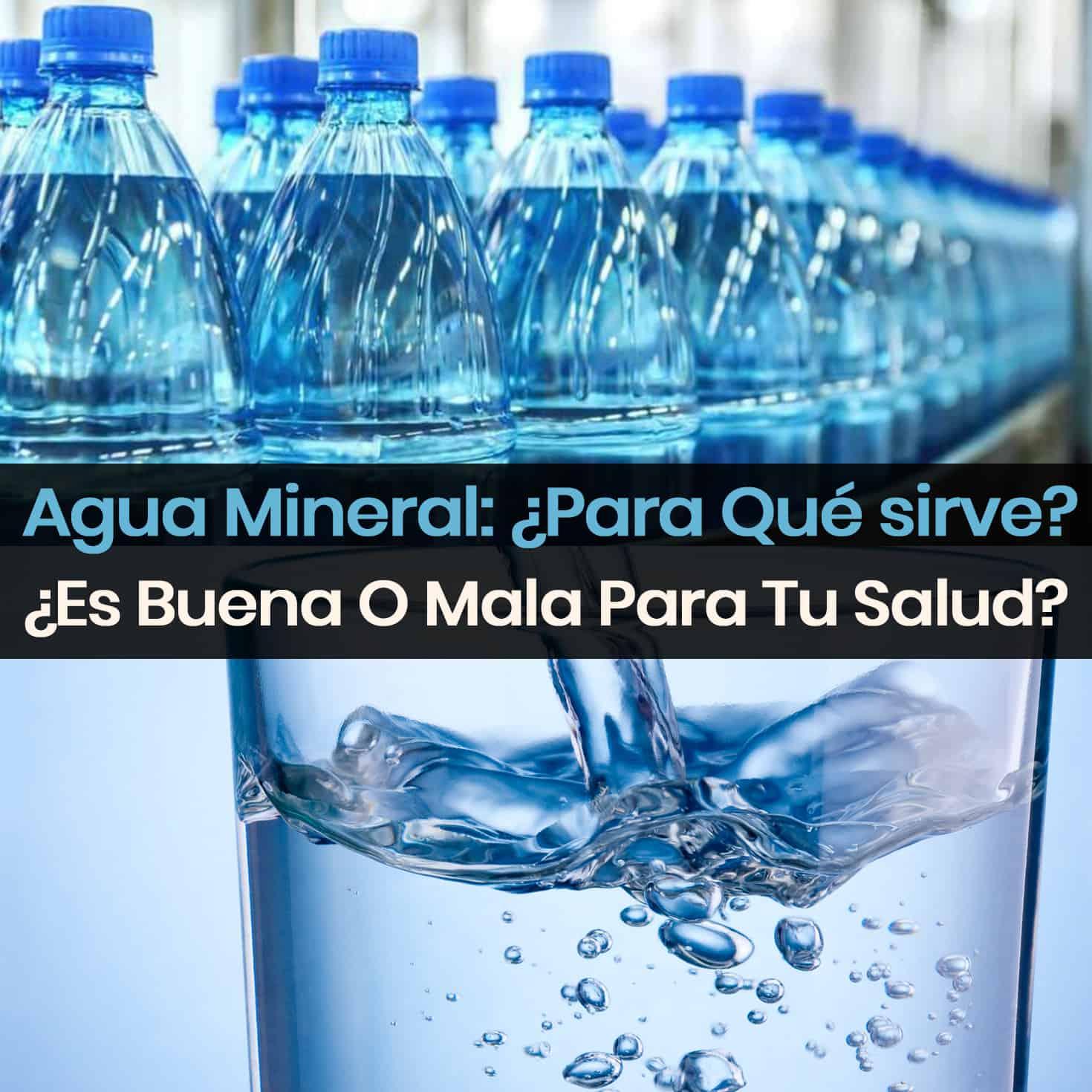 El agua mineral sirve para adelgazar